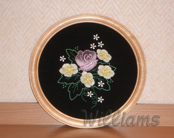 Roses machine embroidery design