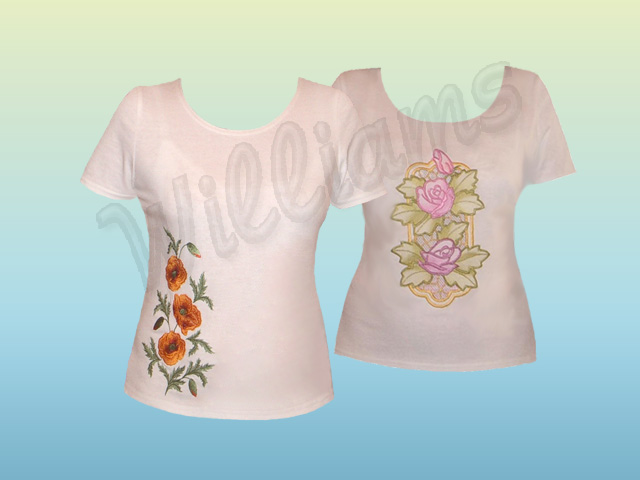 T shirts with embroidery projects machine