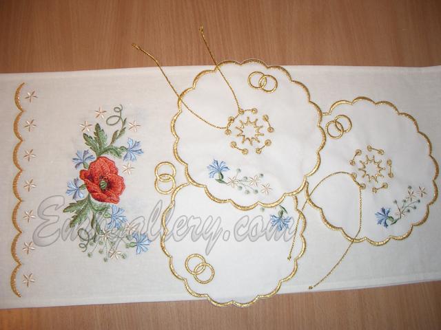 QuotWedding Napkins Under Candlequot  Machine Embroidery Design