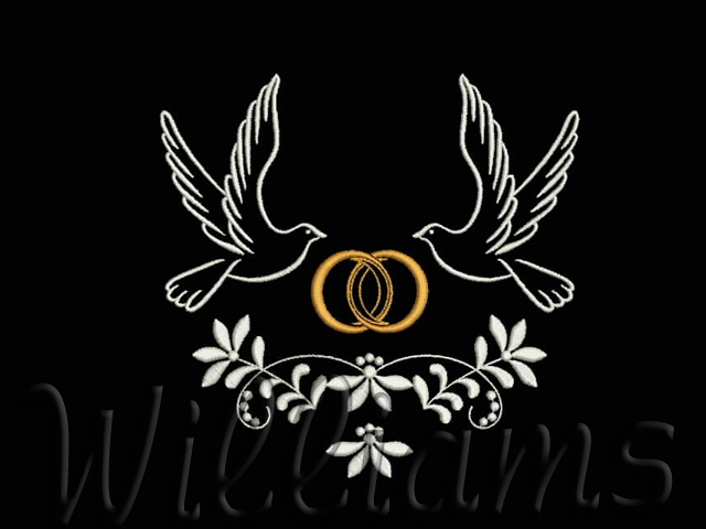 Quot wedding machine embroidery design