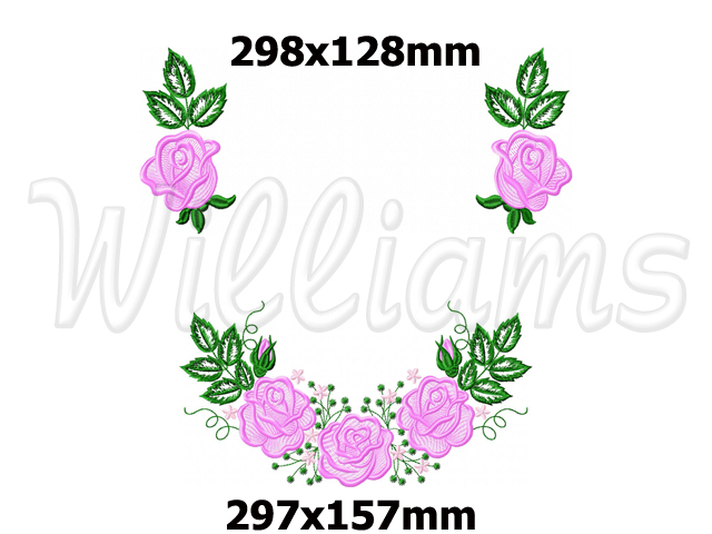Quot wedding towel with roses machine embroidery design