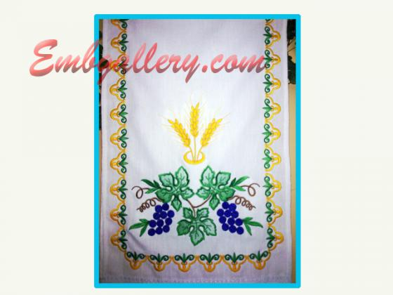 Wedding towel projects with machine embroidery