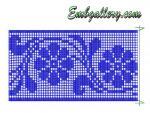 Set of 2 Machine Embroidery designs in FSL technique