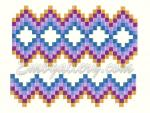 "Set of 4 Machine Embroidery Designs ""Chess ornament"""