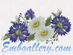 Machine embroidery design.