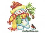 Machine Embroidery Design in Cross Stitch