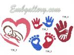 Set of 4 machine embroidery designs