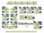 Machine Embroidery Design in cross-stitch technique