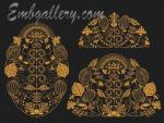 The collection of 3 Machine Embroidery Designs