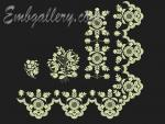 Set of 5 Machine Embroidery Designs