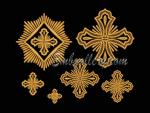 Set of 6 Machine embroidery designs.