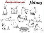 Set of 12 free machine embroidery designs