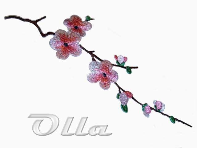 Sakura machine embroidery design
