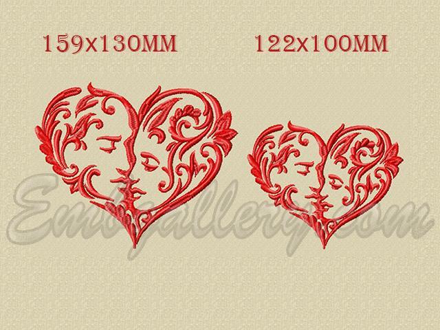 A Loving Heart Machine Embroidery Design
