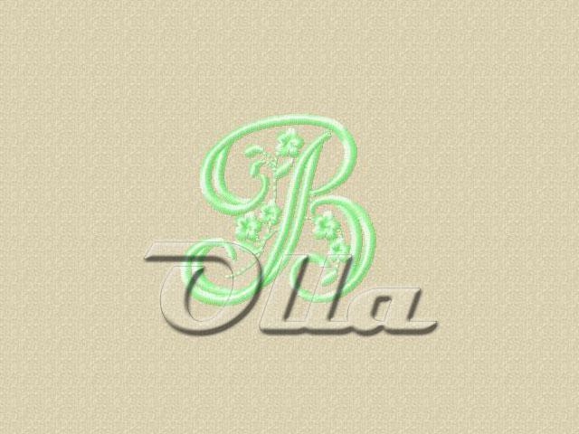 Collection quot floral alphabet letter  free machine