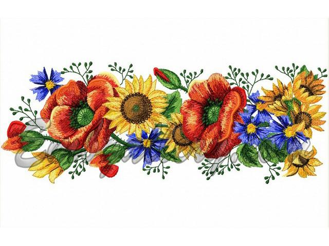 Quot voiced summer border machine embroidery design