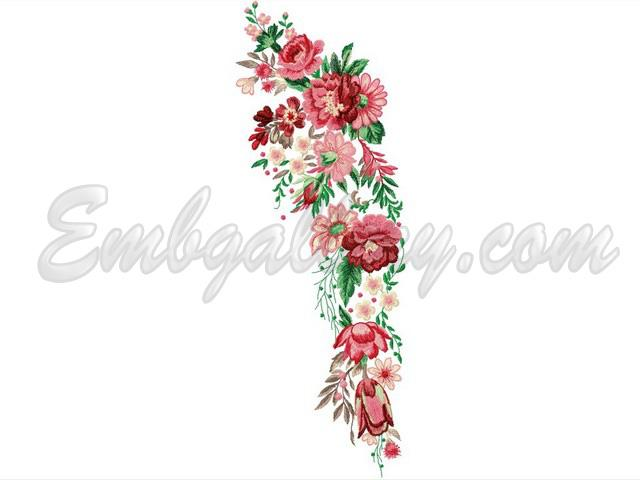 Quot pink fairy tale machine embroidery design