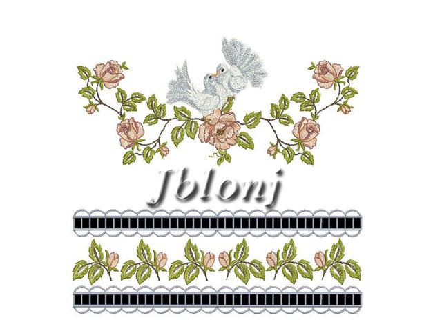 Quot wedding towel machine embroidery design