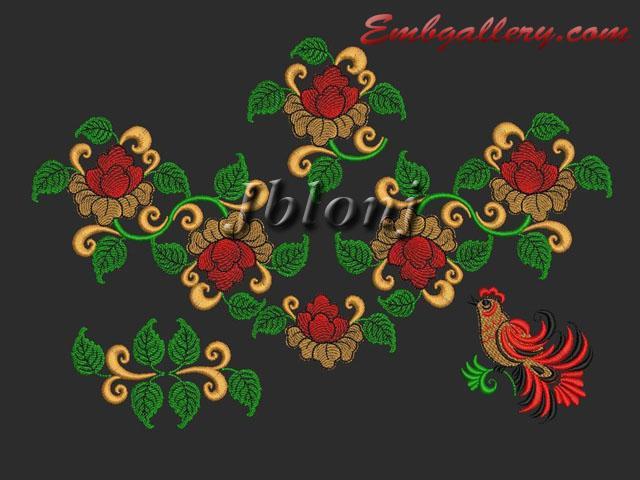 Quot khokhloma machine embroidery design