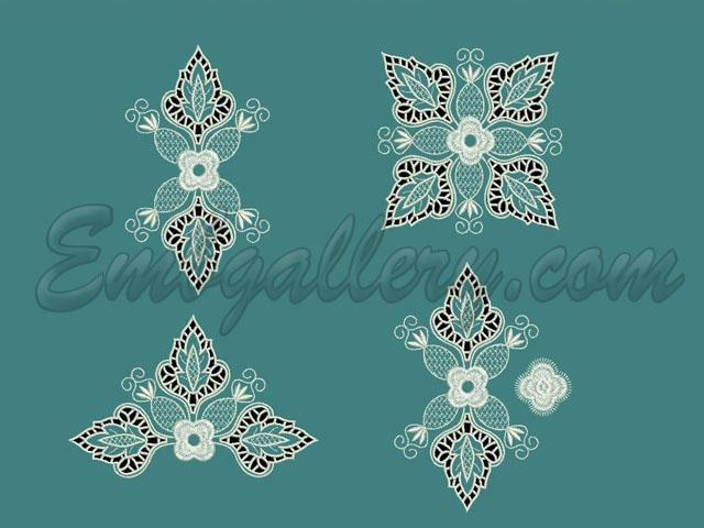 Quot the geometry of richelieu machine embroidery design