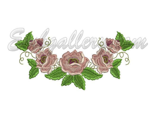 Machine embroidery landscape designs for Garden embroidery designs