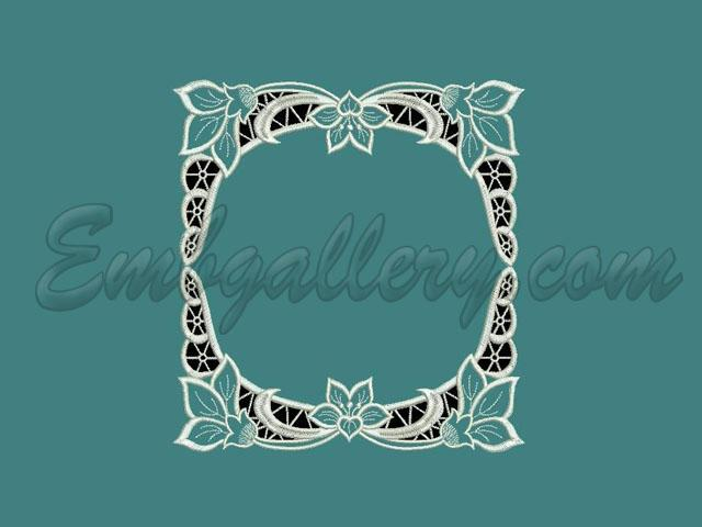 Cutwork lace quot crocuses machine embroidery design