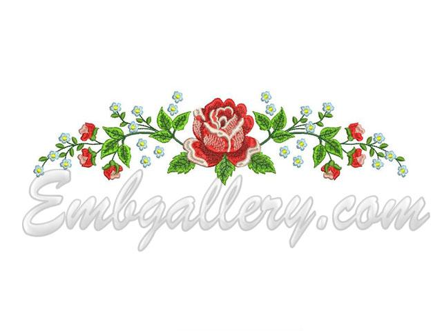Quot wedding towel roses border machine embroidery design