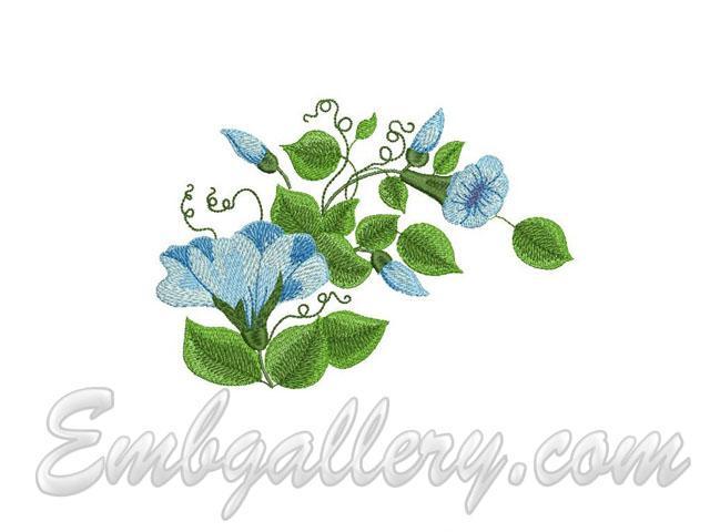 Summer garden 4 machine embroidery design for Garden embroidery designs