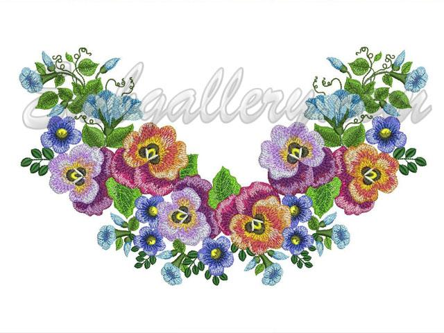 Garden Embroidery Designs yuki sugashima four season flower garden embroidery craft book Summer Garden Neck Machine Embroidery Design