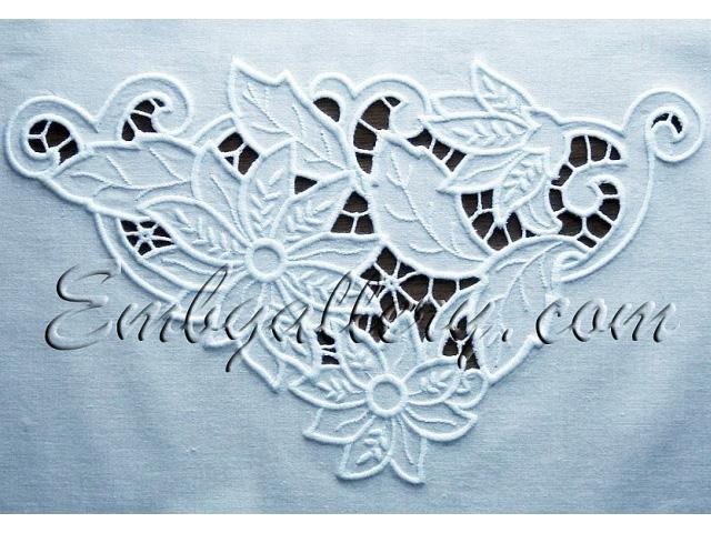 U0026quot;Cutwork Lace Corneru0026quot; (for The Small Hoops) | Machine Embroidery Design