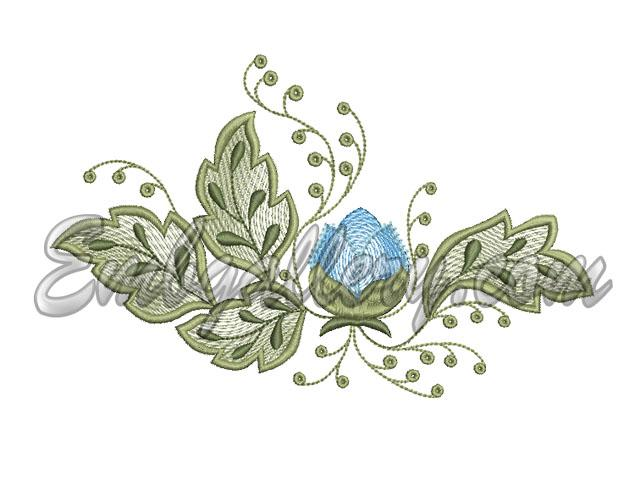 Machine embroidery design from the set quot tablecloth spring quot
