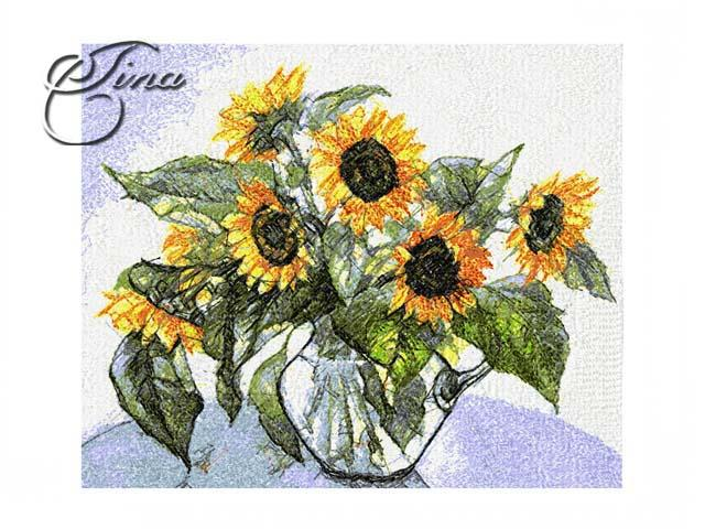 Sunflowers And Roses Bouquet Floral Design