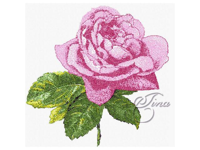 Design embroidery machine rose « origami