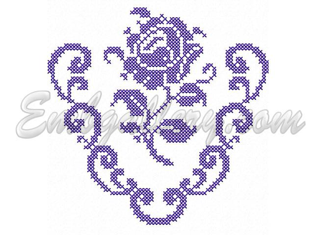 Quot cross stitch rose free machine embroidery design