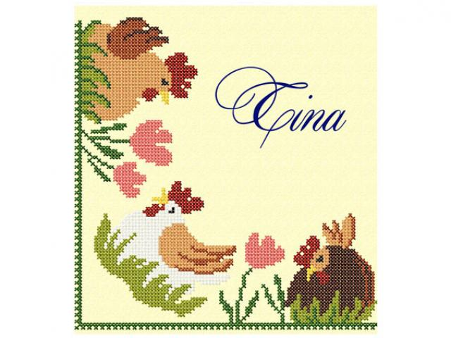 Cross stitch corner quot chicken free machine embroidery