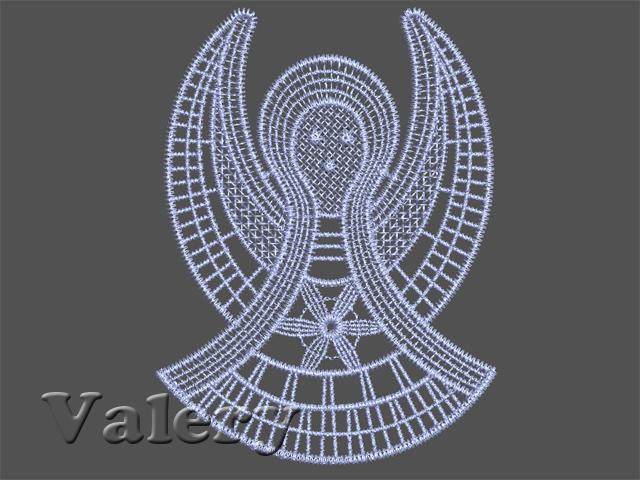 Angel free machine embroidery design