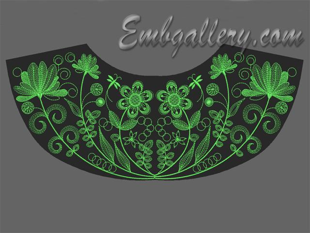 Embroidery set quot neck en embgallery