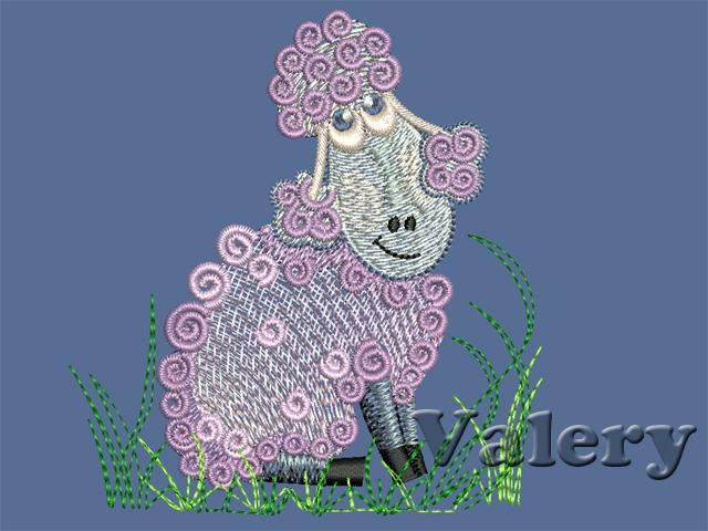 Sheep 02 Machine Embroidery Design