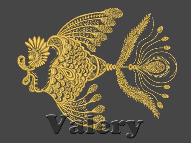 Quot fancy goldfish machine embroidery design