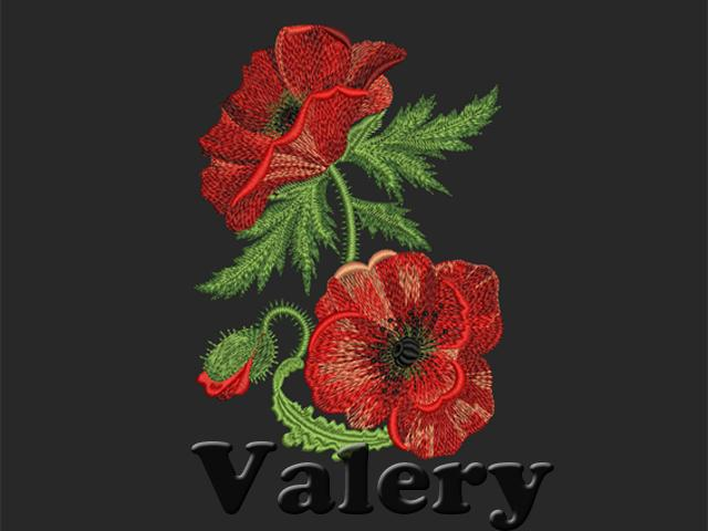 QuotPoppy Border  1quot  Machine Embroidery Design