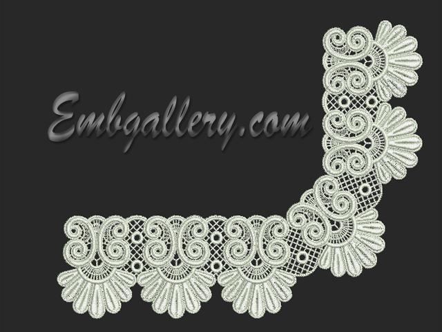 Fsl cutwork lace machine embroidery