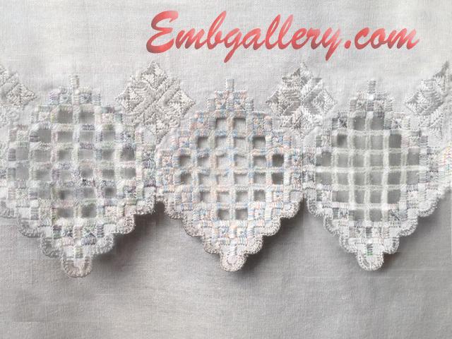 FSL Amp Cutwork Lace  Machine Embroidery