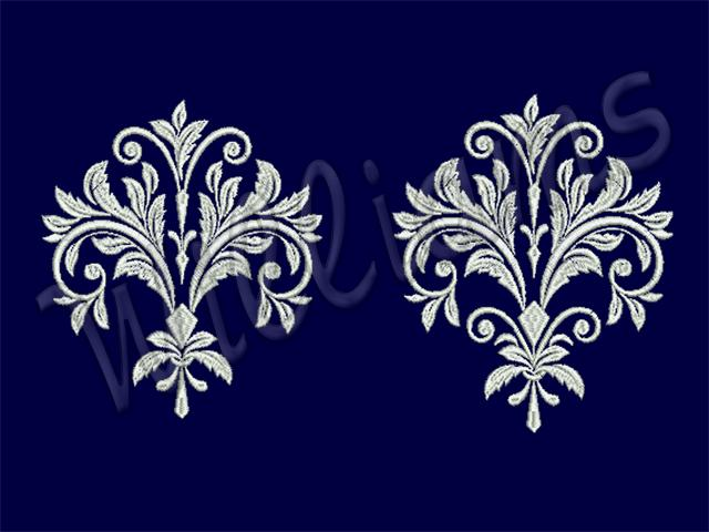 baroque machine embroidery design. Black Bedroom Furniture Sets. Home Design Ideas