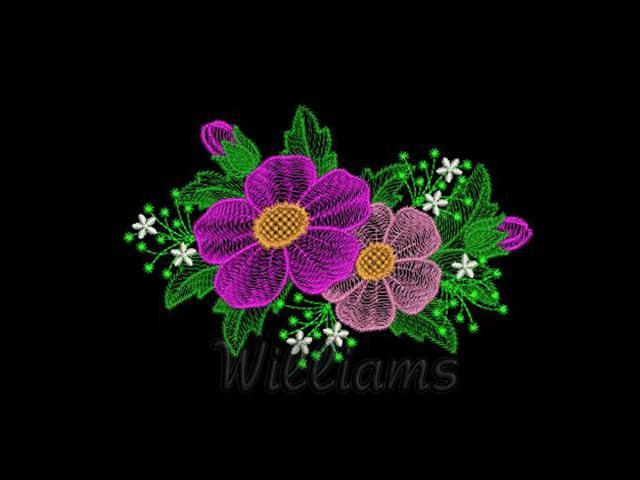 Spring Flowers 3 Machine Embroidery Design