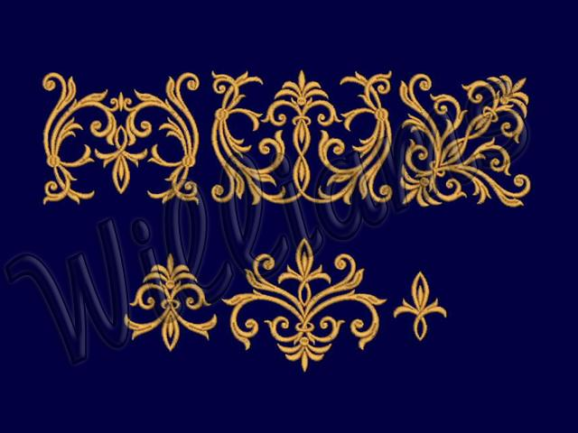 Machine Embroidery Designs Set Patterns For Borders En