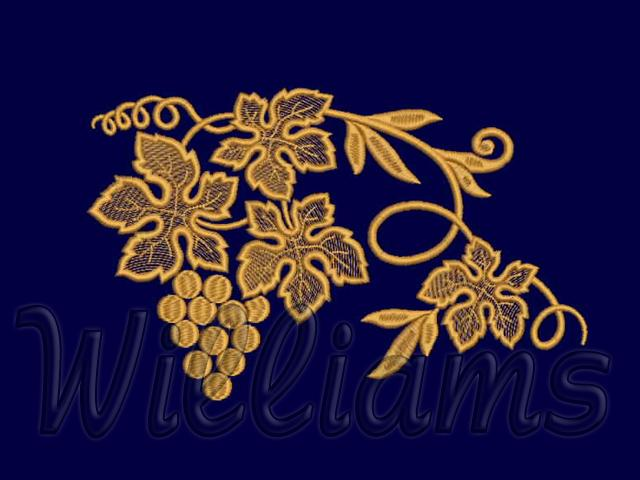 Quot grapes machine embroidery design