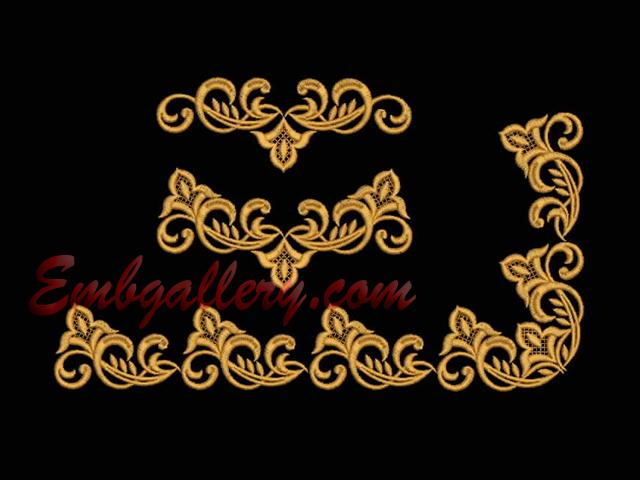 Ornaments borders machine embroidery