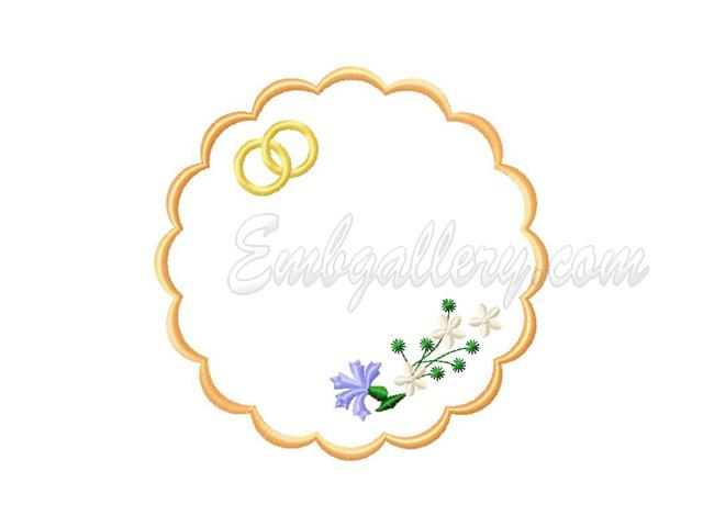 Quot wedding napkin machine embroidery design