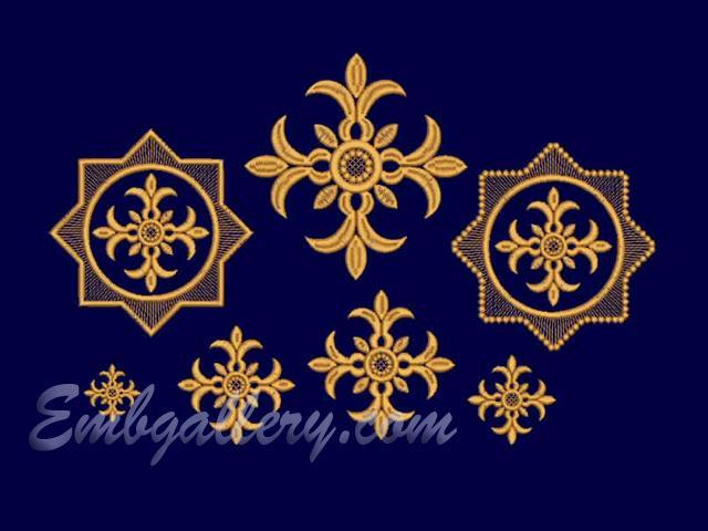 Religious machine embroidery