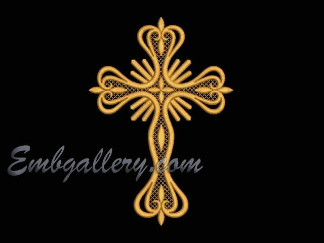 Quot Cross Quot 18 Machine Embroidery Design